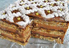 Nova godina = jelka + prase + torta... Kod mene prase nikada, jelka ponekad, ali torta uvek! Pogotovo ovakva! Žerbo tortu uvek...
