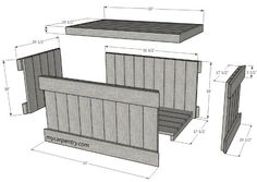 Cedar Chest Plans - Build Your Own Cedar Chest The easiest and quickest way to build your chest is to purchase cedar decking and pre cut The chest is also almost free if you use Woodworking Projects Diy, Diy Wood Projects, Woodworking Plans, Woodworking Furniture, Custom Woodworking, Pallet Chest, Wood Chest, Diy Pallet Furniture, Wood Furniture