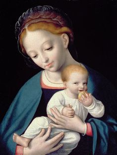 Joos van Cleve, Virgin and Child - Google Search