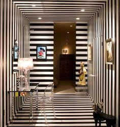 recibidores papel pintado rayas negras - papel pintado tienda ...