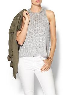 Elizabeth and James Foil Tank | Piperlime - Sleeveless textured knit
