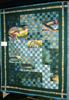 fish quilt patterns | fish sanctuary pieced and quilted by beth kobliska lap size i used the ...