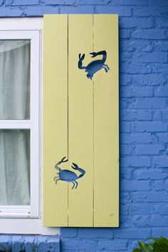 Jane Coslick Cottage Collection - Crabaritaville Shutter These are simply adorable!!