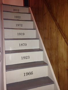 This Would Cute If It Were Important Dates In Order Anniversary, First Date  Etc. Painted StairsImportant DatesBasement ...