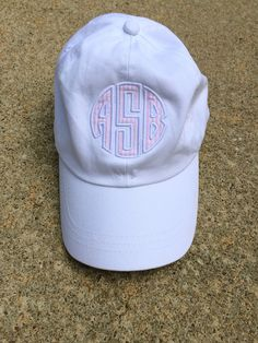 Monogrammed Seersucker Applique Baseball Hat tinytulip.com - Personalized Gifts at Great Prices - Personalized