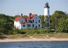 Point Iroquois Lighthouse; Lake Superior; Sault Sainte Marie, MI