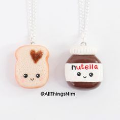 I asked you guys if you wanted to see a kawaii macaron or Nutella charm and of course A LOT of you wanted a Nutella Charm! I'm really happy with how it turned out tutorial already went up on my YouTube (link in my bio) . p.s - kawaii macaron coming up next by allthingsnim