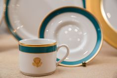 The official state china of President Barack Obama's administration is a modern-inspired service trimmed in a blue that recalls the waters of his native state of Hawaii