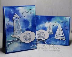 New Sail Away Bundle used for this card set.  I've also done the Faux Watercolor Background Technique using Gloss Cardstock, Reinkers and Rubbing Alcohol.  Check out the FB Live Video on my post for the 'how to' #stampinup #stampalatte #sailaway #sailinghome #comesailaway #bundleandsave #stampingtechniques #fauxwatercolor #stamping #techniques #glosscardstock #handmade #greetingcard #stampwithonie #stampingtimeout #fblive