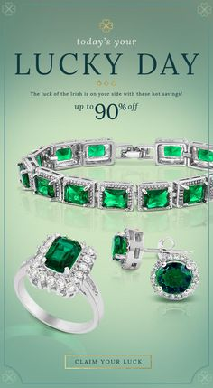 E-mail Design   #email #fashion #graphicdesign #marketing #advertising #spring #jewelry #springemail #springfashion #marketing #emailmarketing #inspiration #gooddesign #e-mail design #emaildesign #saintpatricksday #lucky