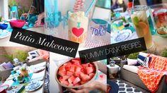 cool Patio Decor Makeover & Summer DIY Drinks | ANN LE