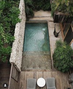 Small Backyard Pools, Small Pools, Swimming Pools Backyard, Outdoor Pool, Outdoor Gardens, Outdoor Decor, Be Tulum Hotel, Tulum Hotels, Dec Piscina