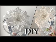 Crepe Paper Flowers, Beaded Embroidery, Needlework, Glass Vase, Ceiling Lights, Christmas Ornaments, Sewing, Floral, Diy