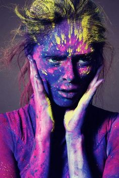 Coco Rocha is fierce enough to not get lost in the paint! :)