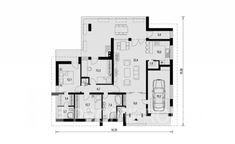 lin324_1np Domy Promiprojekt / Linear 324 Contemporary Houses, House Plans, Floor Plans, How To Plan, Luxury, Houses, Contemporary, Home, Contemporary Homes