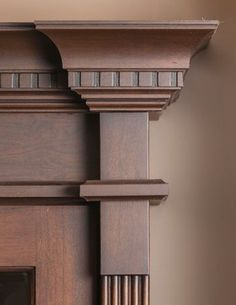 stacker with crown moulding wrapped around it with Dentil moul. - stacker with crown moulding wrapped around it with Dentil moulding inserted. Dentil Moulding, Door Molding, Moldings And Trim, Crown Moldings, Main Door Design, Wooden Door Design, Wooden Doors, Cornice Design, Architrave
