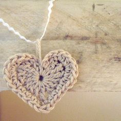 Crochet Heart-I could do this in very fine guage silver wire