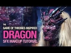 Dragon special fx makeup tutorial - YouTube  Use thos method with a more permanent material for the mermaid tail.