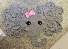 Handmade Crochet Elephant Rug by ManningsMakings on Etsy Wow Wee, Crochet Elephant, Kids Rugs, Trending Outfits, Unique Jewelry, Handmade Gifts, Vintage, Etsy, Decor
