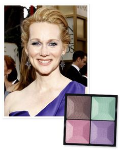 Find Your Perfect Purple Shadow: When it comes to pairing purple with blue eyes like #LauraLinney, cooler tones are the way to go. http://www.instyle.com/instyle/package/general/photos/0,,20574644_20570483_21120093,00.html