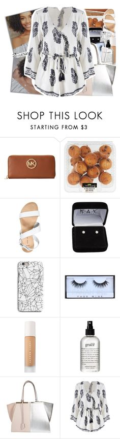 """""""« picture us both getting low on a flight, love is a game and I'm rolling the dice »"""" by p-rojectbaby ❤ liked on Polyvore featuring Michael Kors, New Look, INDIE HAIR, Huda Beauty, Puma, philosophy and Fendi"""