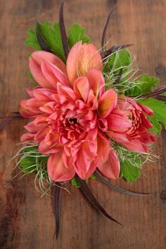 Corsage 4- One big bold statement flower