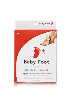"""It's worth experiencing, though — your callused, weathered feet will be as supple as the day you were born...once you get through what seems like 100 layers of shedding."""" — Alix Tunell, senior beauty editorBaby Foot 1 Hour Treatment, $25, available at Baby Foot. #refinery29 http://www.refinery29.com/must-have-beauty-products#slide-1"""