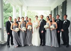 Loving the grey bridesmaid dresses! I've been debating between black and grey, but I think this picture just made my decision for me.