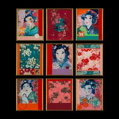 Kathe Fraga Art: The Kimono Series, www.kathefraga.com Inspired by vintage silk kimonos, soft and faded French wallpapers and Chinoiserie with a modern twist.