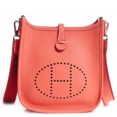Evelyne III Hermes shoulder bag in ecru twill H canvas/atoll blue ...