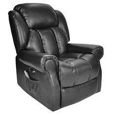 Hainworth Leather Electric powered recliner chair with heat and massage - choice of colours