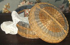Vintage Sewing Basket Penobscot Native American Basket