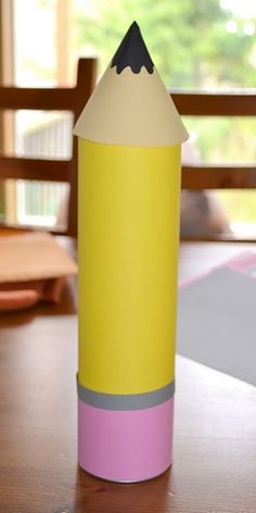 pencil made from a pringles can...could be a fun teacher gift box or for back to school