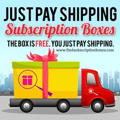 "The deals don't get better than free. Here are Current Free Subscription Box Offers - you just pay shipping. Try beauty boxes, snack boxes, boxes for kids, fashion subscription boxes, and more for FREE with these ""Just Pay Shipping"" FREE Subscription Box offers.  http://www.findsubscriptionboxes.com/a-closer-look/subscription-boxes-can-get-free-just-pay-shipping/. Offers valid through 10/31/15. Some are ONGOING!"
