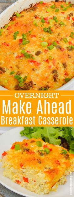 This Make Ahead Breakfast Casserole is perfect for busy mornings and one of my favorite breakfast recipes. This Make Ahead Breakfast Casserole is perfect for busy mornings and one of my favorite breakfast recipes. Overnight Hashbrown Breakfast Casserole, Breakfast Enchiladas, Overnight Breakfast Casserole, Sausage Breakfast, Eat Breakfast, Breakfast Cassrole, Prayer Breakfast, Breakfast Healthy, Breakfast Burritos