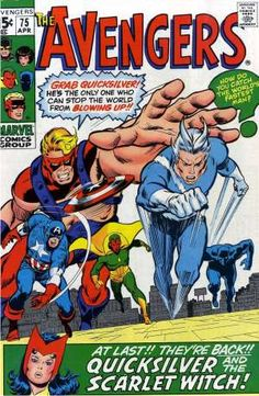Pietro goes blue — and returns to The Avengers. Classic Buscema.