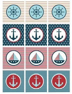 My Sister's Suitcase: Nautical Baby Shower Printables