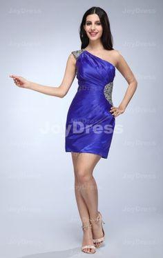 shop Crystal Sheath One Shoulder Short Dress   £61.00