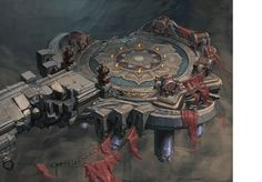 Ares fighting potential cloud palace scene of the original painting