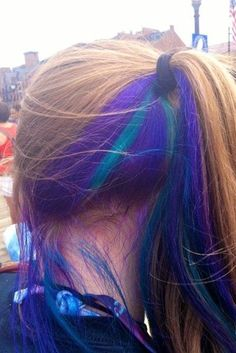 Cool Idea. Only color the underside of your hair, is appropriate for work, but you put your hair in a ponytail and it's colored!