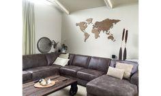My Wooden World Houten wereldkaarten met ingegraveerde landsgrenzen