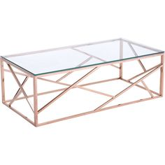 The brilliantly stylish Candor Coffee Table features a chic lattice body of polished stainless steel. Modern and clean in design, its carefully tempered glass top allows your room to look more expansi