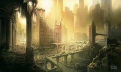 Post Apocalyptic Enviro Concept by d-torres.deviantart.com on @DeviantArt