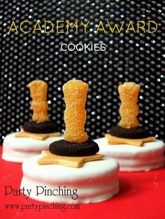oscar party food, birthday parties, award cooki, award parti, oreo, oscar parti, sandwich cookies, parti idea, home parties
