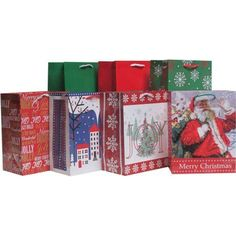 Holiday Time Traditional Value Pack Gift Bags, 7 ct, Multicolor