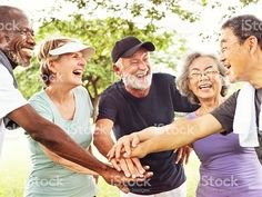 Group Of Senior Retirement Exercising Togetherness Concept foto royalty-free