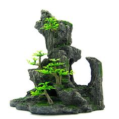 "Mountain View Aquarium Ornament tree 8.2""x4.3""-: 	$42.99 & FREE Shipping In Stock. Ships from and sold by Relaxbuty.  Estimated Delivery Date: July 9 - 28 when you choose Standard at checkout.      8.2"" X 4.3"" X 5.1"" (21X 11X 13cm) (L x W x H )"