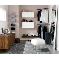 Apartment Storage Tips Corner Hanging Bar Ideas Armario, Top Paint Colors, Closet Transformation, Low Dresser, Small Closet Organization, Storage Organization, Storage Boxes, Hanging Bar, My New Room