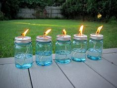 Recycle Reuse Renew Mother Earth Projects: How to Make Your Own Mason Jar Oil Candle
