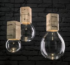 Jan Plechac & Henry Wielgus have designed a collection of hand-blown glass lights named Moulds